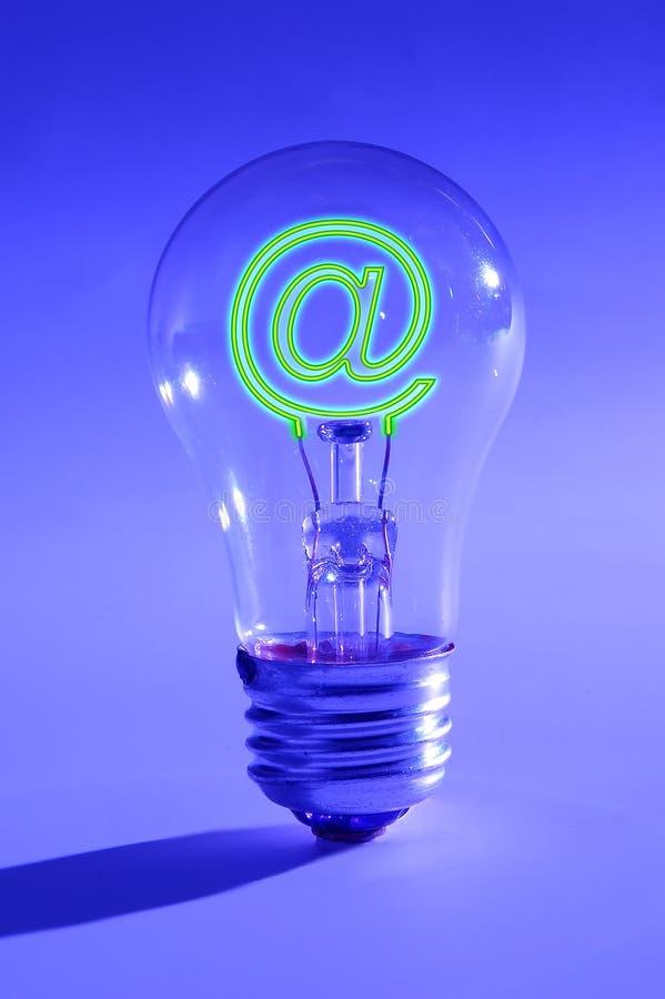Idéia e o Internet imagem de stock