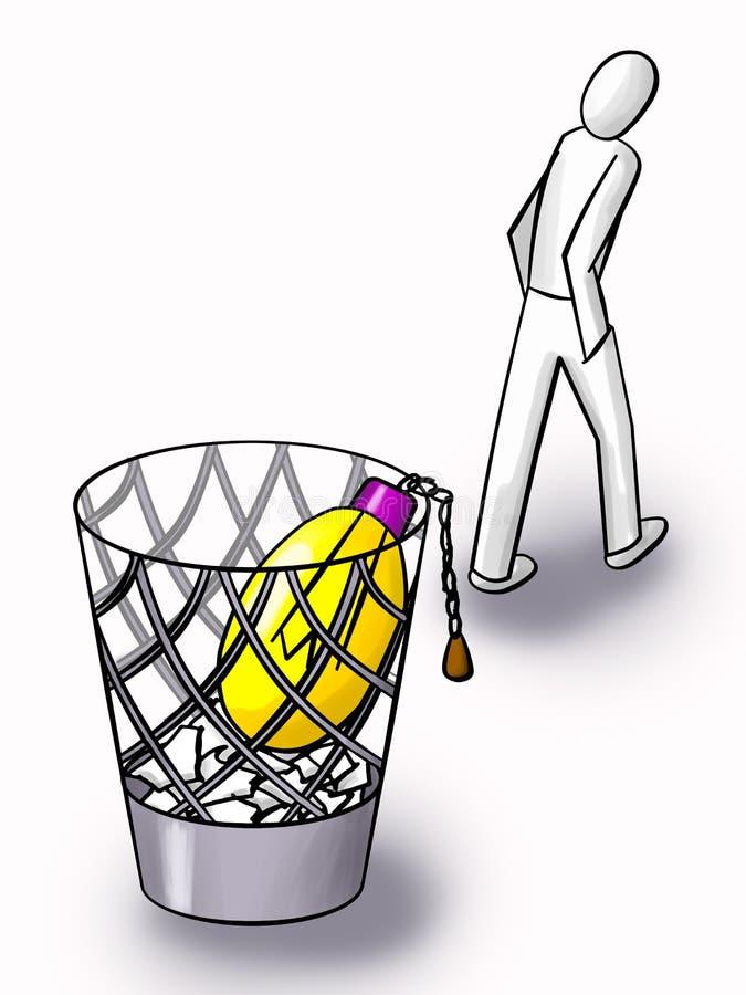 Idéia inútil ilustração do vetor
