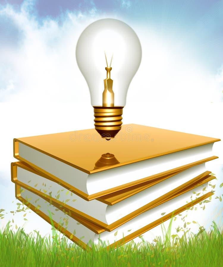 Idéias com a instrução e o conhecimento ilustração do vetor