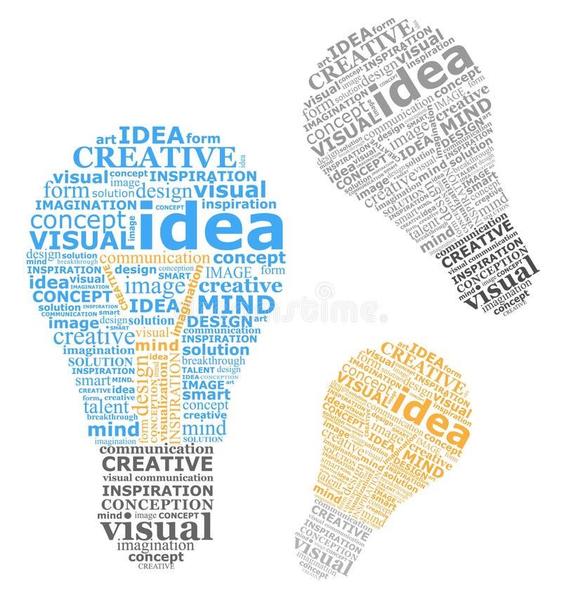 Idéias dos bulbos ilustração royalty free