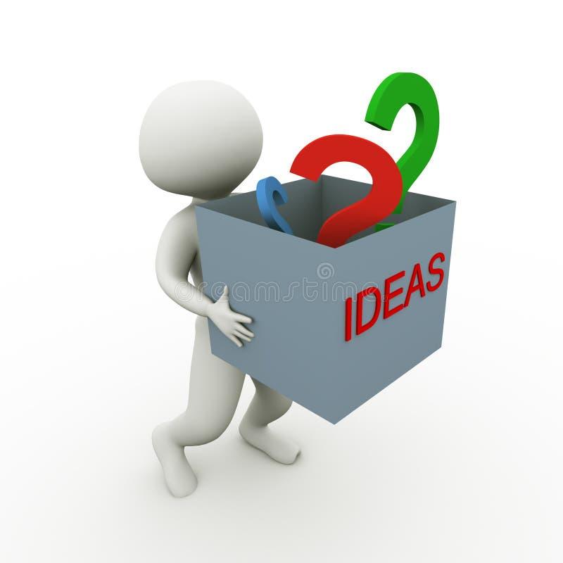 Idéias e perguntas ilustração stock