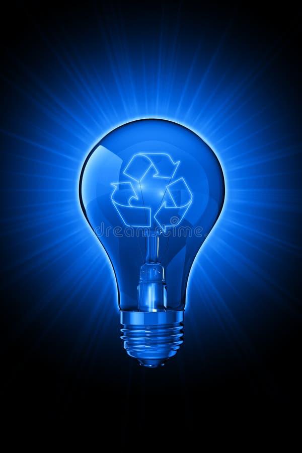 Idéias luminosas para recicl ilustração stock