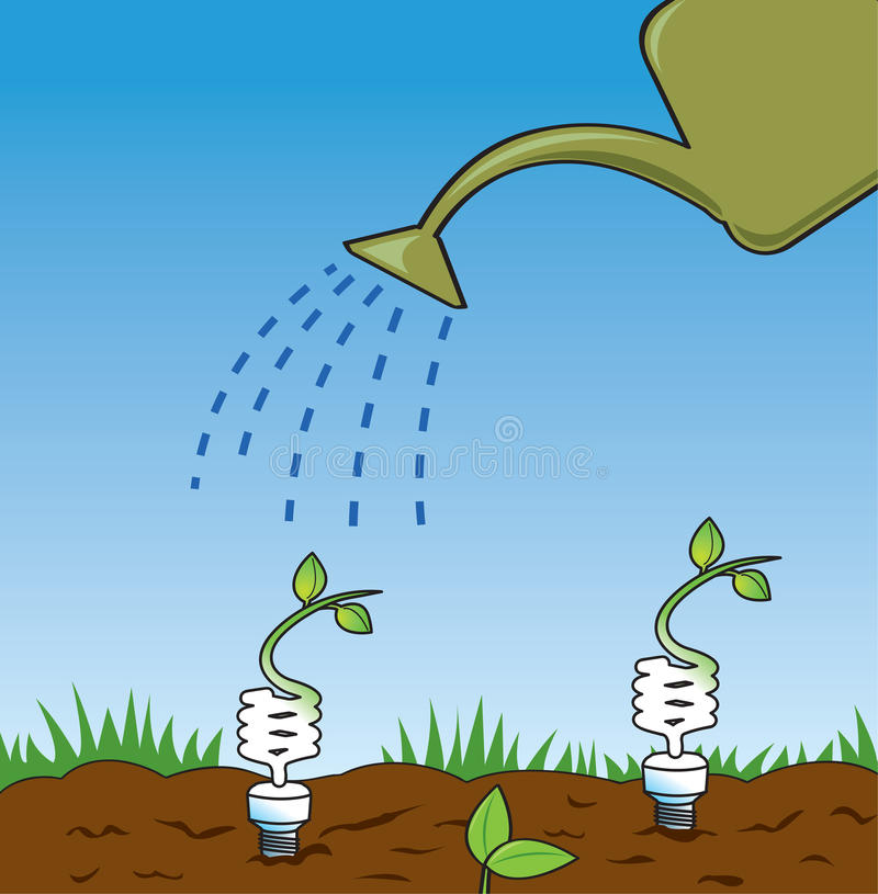 Idéias verdes crescentes ilustração do vetor