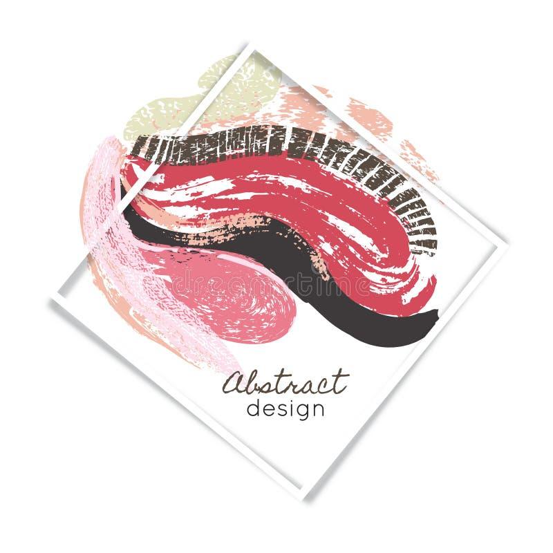 Idérik abstrakt bakgrund konst måla färgstänk kludd färgrik textur Färgsudd Ram royaltyfri illustrationer