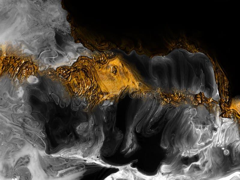 Idérik abstrakt hand målad bakgrund, tapet, textur, närbildfragment av akrylmålning på kanfas med borsteslaglängder arkivfoto