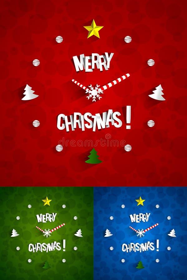Idérik abstrakt julklocka stock illustrationer