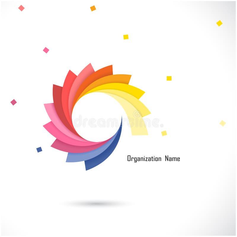 Idérik abstrakt mall för vektorlogodesign Företags affär royaltyfri illustrationer