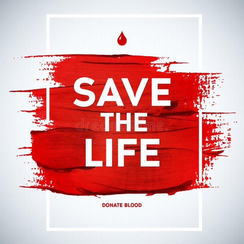 Idérik affisch för givare för information om blodgivaredagmotivation Bl stock illustrationer