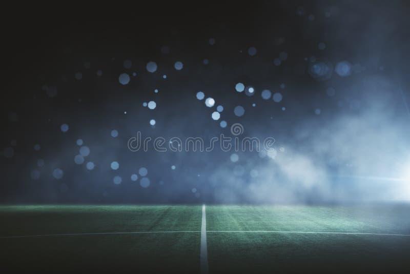 Idérik bakgrund för fotbollfält stock illustrationer