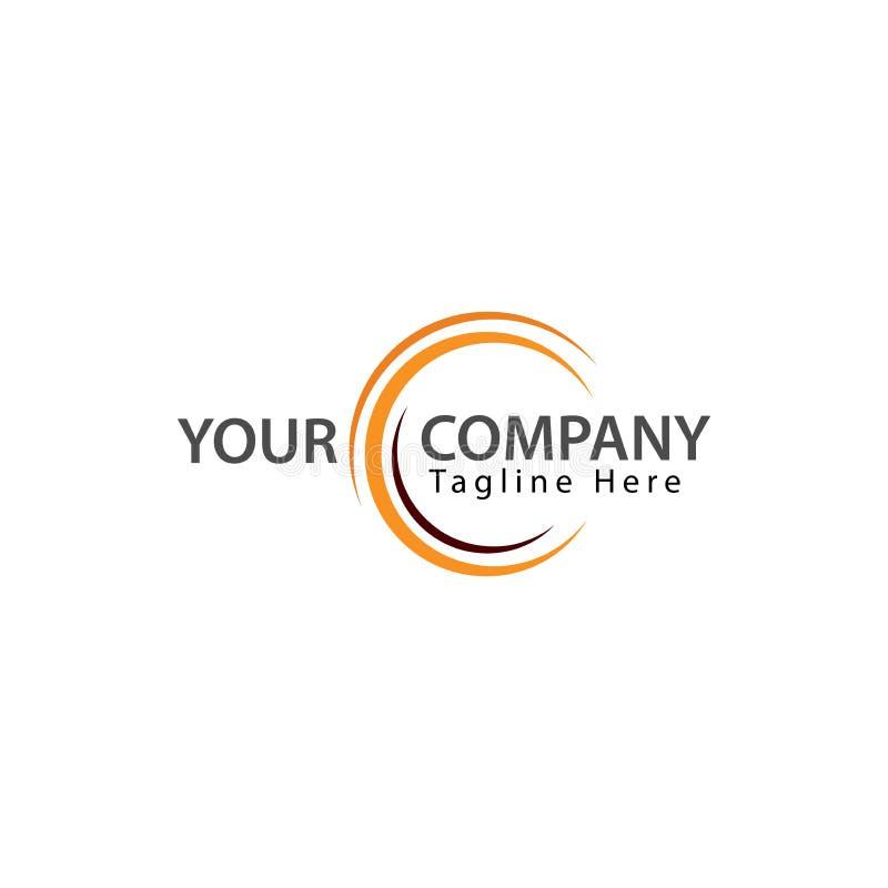 Idérik bokstav C Logo Design, teknologilogo Logo symbol stock illustrationer
