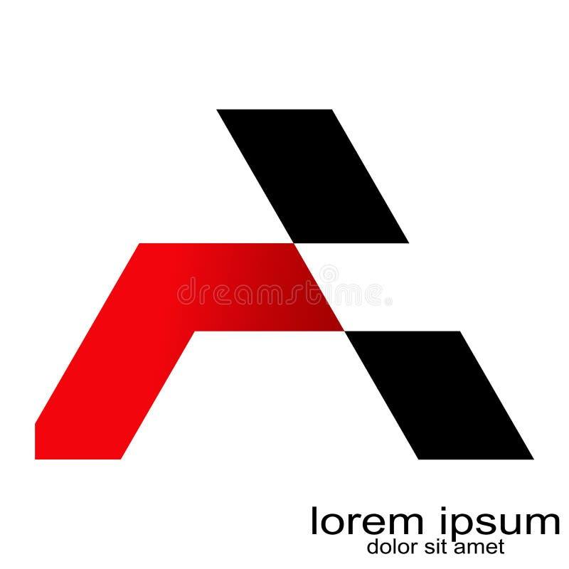 Idérik bokstav för abstrakt begrepp för prövkopiadesign en logovektor vektor illustrationer