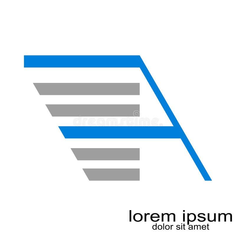 Idérik bokstav för abstrakt begrepp för prövkopiadesign en logovektor stock illustrationer