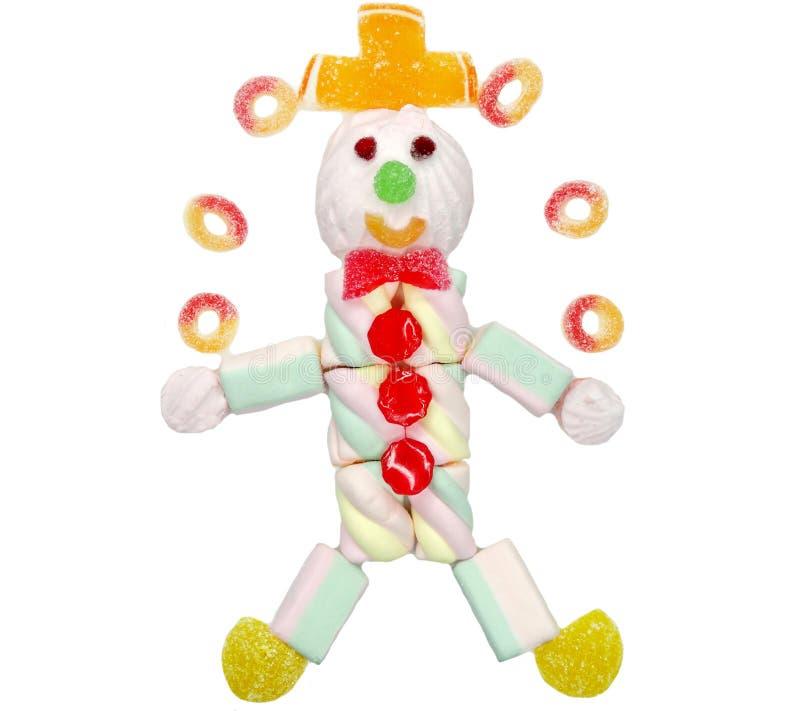 Idérik clown för mat för marmeladfruktgelé söt i cirkusform royaltyfri fotografi