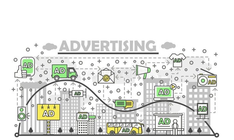 Idérik collage för advertizingmarknadsföringsbegrepp eller för produktbefordranvektor vektor illustrationer