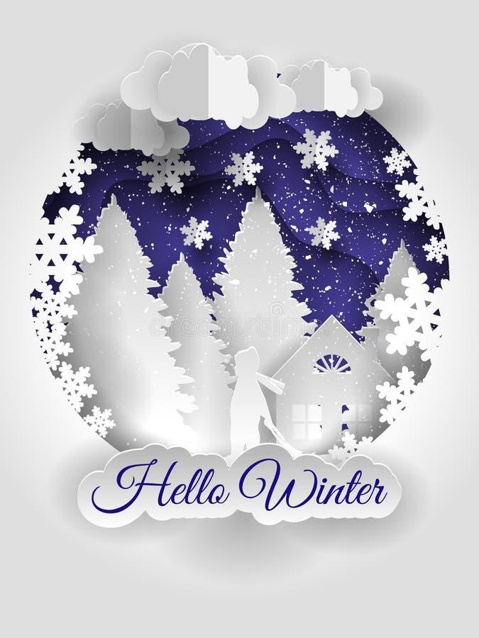 Idérik design för lyckligt nytt år 2018 lyckligt glatt nytt år för jul stock illustrationer