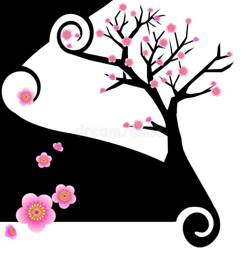 idérik design sakura royaltyfri illustrationer