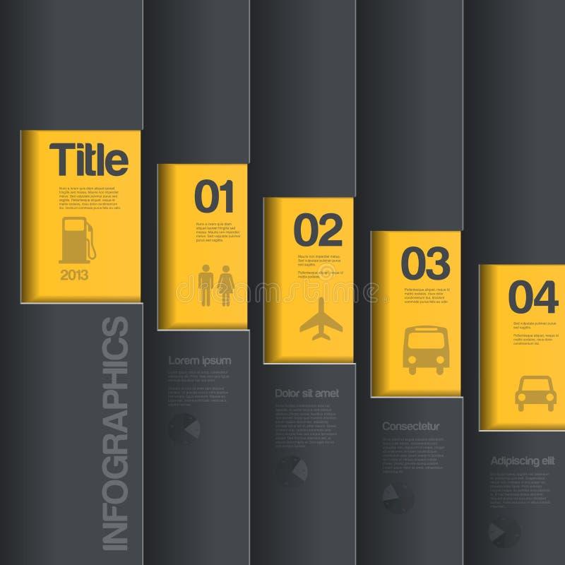 Idérik designmall. Infographics affärsst royaltyfri illustrationer
