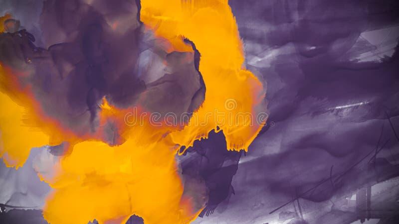 Idérik färgrik bakgrund med abstrakta olja målade vågor Flytande målar Design för bakgrunder, tapeter, räkningar och packe vektor illustrationer