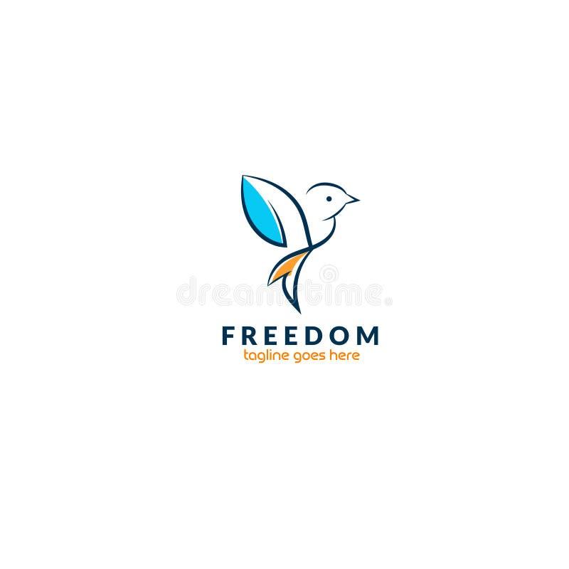 Idérik fågellogodesign-- Lagerföra vektorillustrationen vektor illustrationer