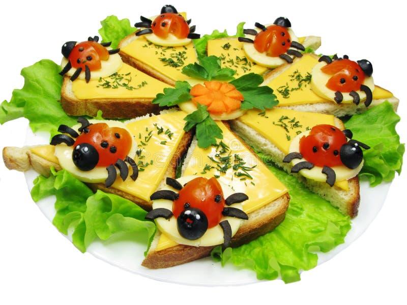Idérik grönsaksmörgås med ost fotografering för bildbyråer