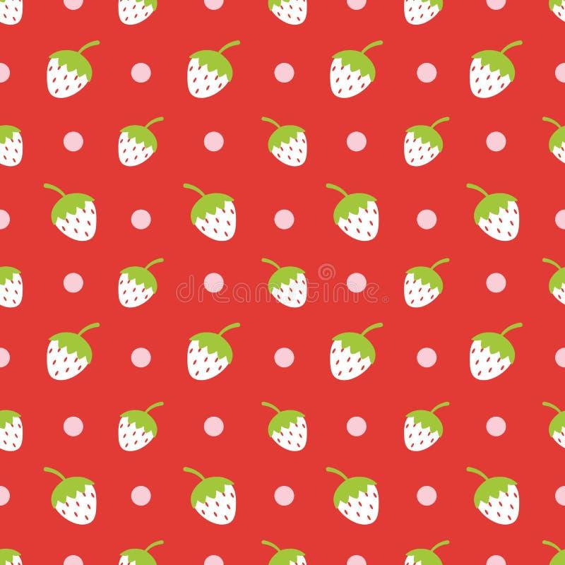 Idérik gullig jordgubbevektormodell vektor illustrationer
