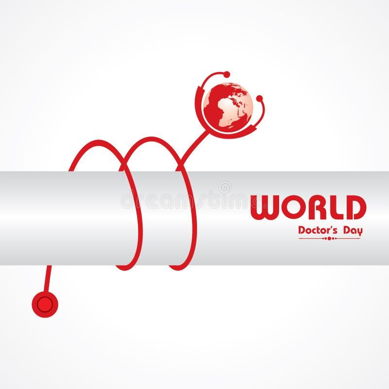 Idérik hälsning för dag för världshälsa stock illustrationer