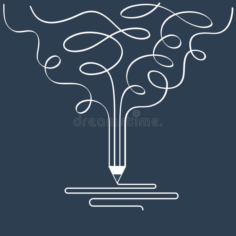 Idérik handstil, historieberättande, studiosymbol för grafisk design royaltyfri illustrationer