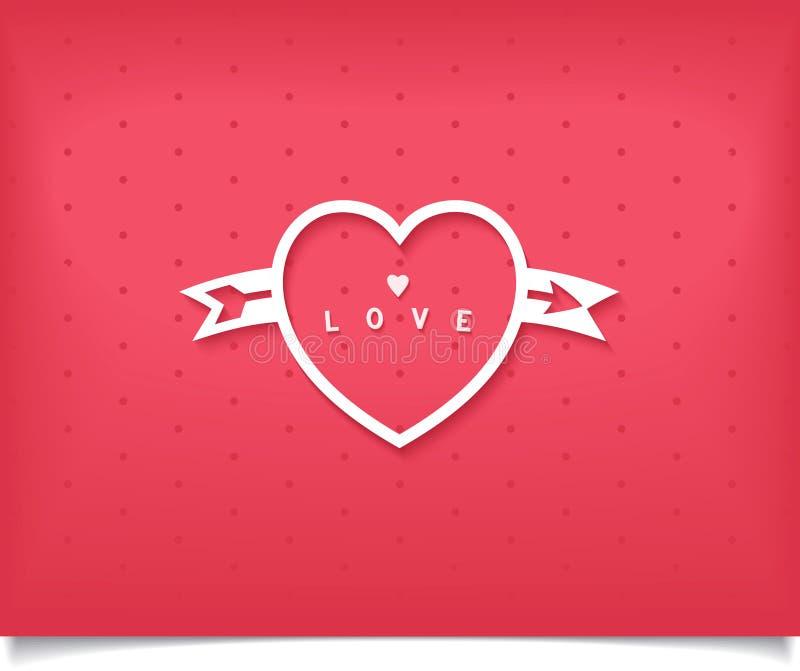 Idérik hjärta med en pil och en bokstäver stock illustrationer