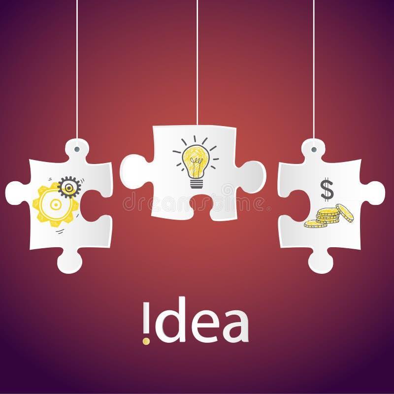 Idérik idé för begrepp för process för teknologiaffärsnätverk, design för mall för vektorillustration modern för broc för affisch