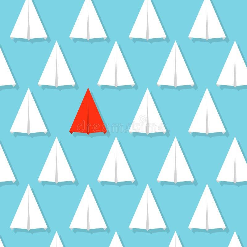 Idérik illustration av folkmassapappersnivån Begrepp av ledarskap, teamwork och kurage Infographic konstdesign abstrakt G stock illustrationer