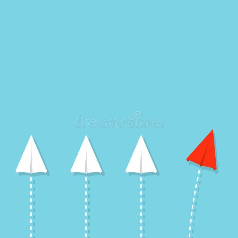 Idérik illustration av folkmassapappersnivån Begrepp av ledarskap, teamwork och kurage Infographic konstdesign abstrakt G vektor illustrationer
