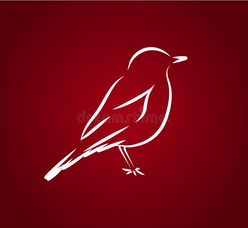 Idérik illustration Logo Bird för abstrakt vektor royaltyfri illustrationer