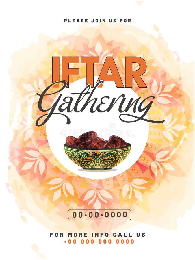Idérik inbjudankortdesign med illustrationen av den härliga blomman på vattenfärgbakgrund stock illustrationer