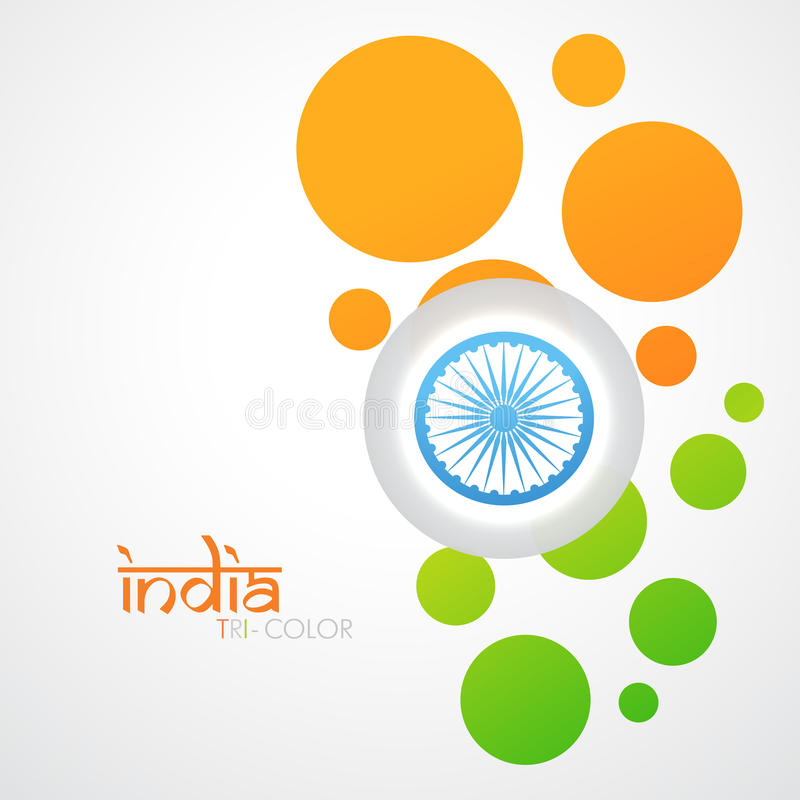 Idérik indisk flagga royaltyfri illustrationer