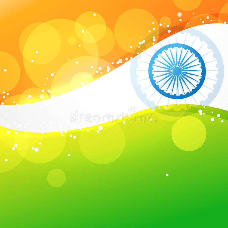 Idérik indisk flagga för vektor stock illustrationer