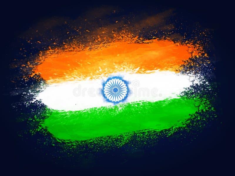 Idérik indisk flaggadesign för självständighetsdagen vektor illustrationer