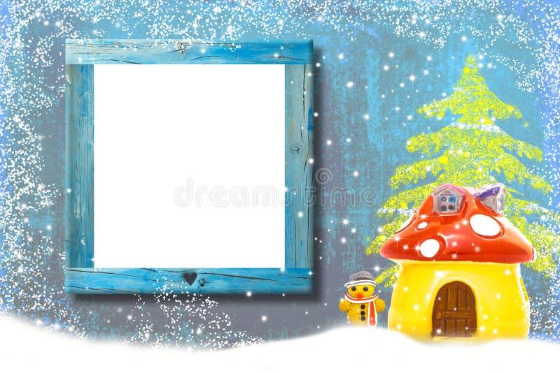 Idérik julbakgrund med det tomma brädet arkivfoton