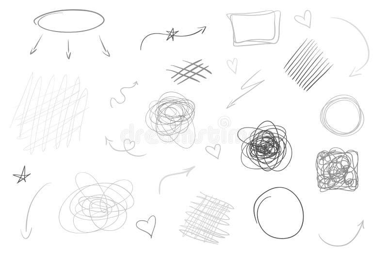Idérik konst illustration stock illustrationer