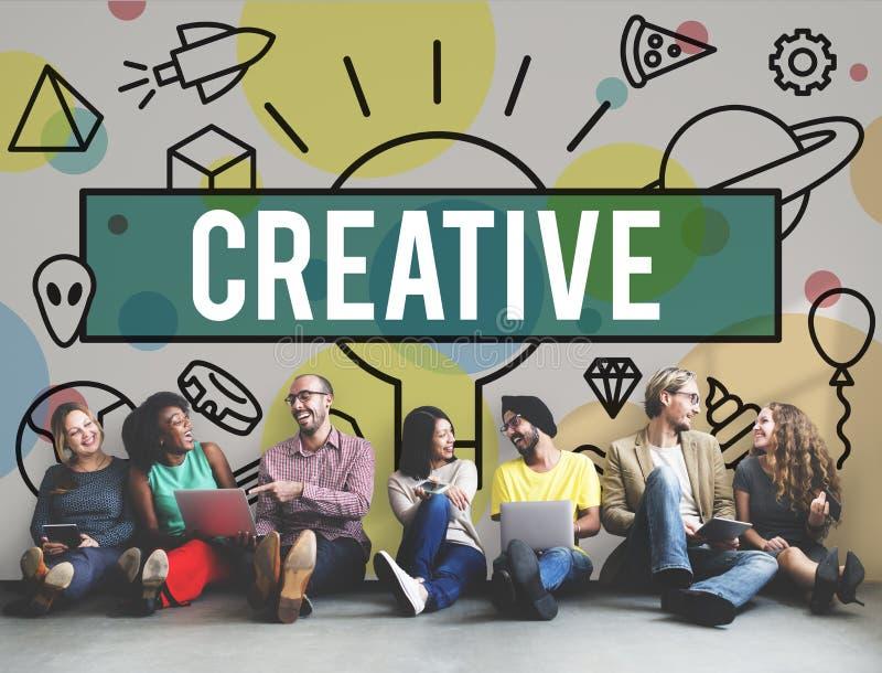 Idérik kreativitet inspirerar idéinnovationbegrepp royaltyfria bilder