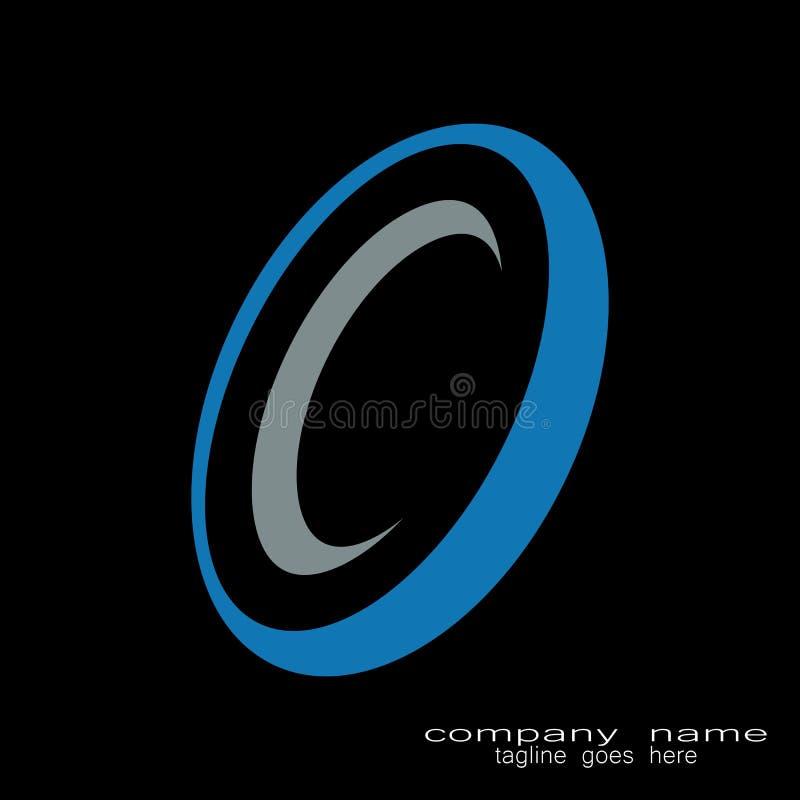 Idérik logo för bokstav c för runda för prövkopiadesign royaltyfri illustrationer