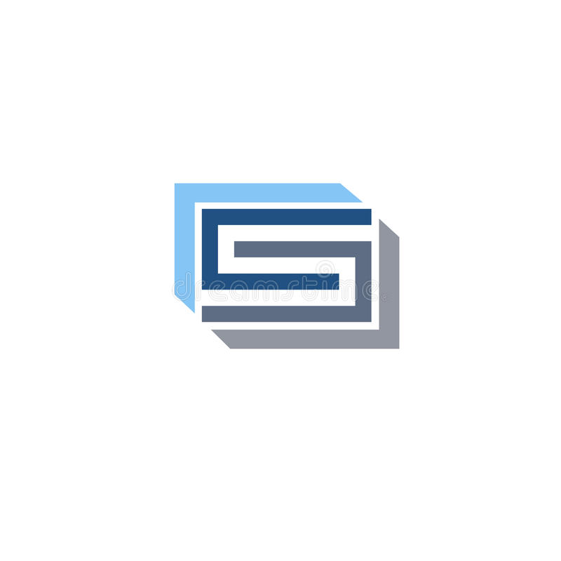 Idérik logo för bokstavsCSbokstav stock illustrationer