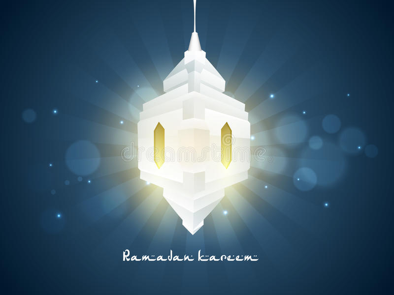 Idérik lykta 3D för Ramadan Kareem beröm stock illustrationer