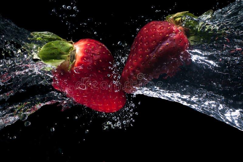 Idérik lyxmat för jordgubbar arkivfoton