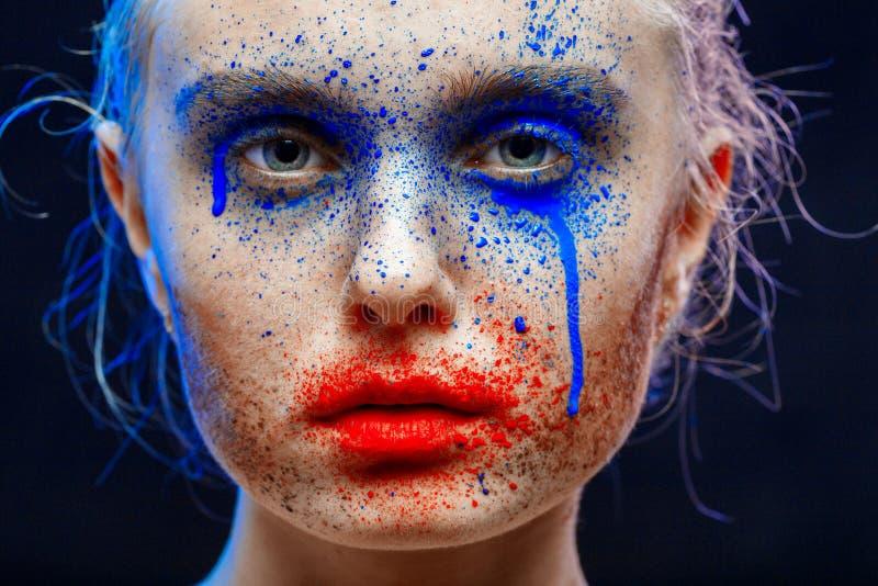 Idérik mångfärgad makeup royaltyfri foto