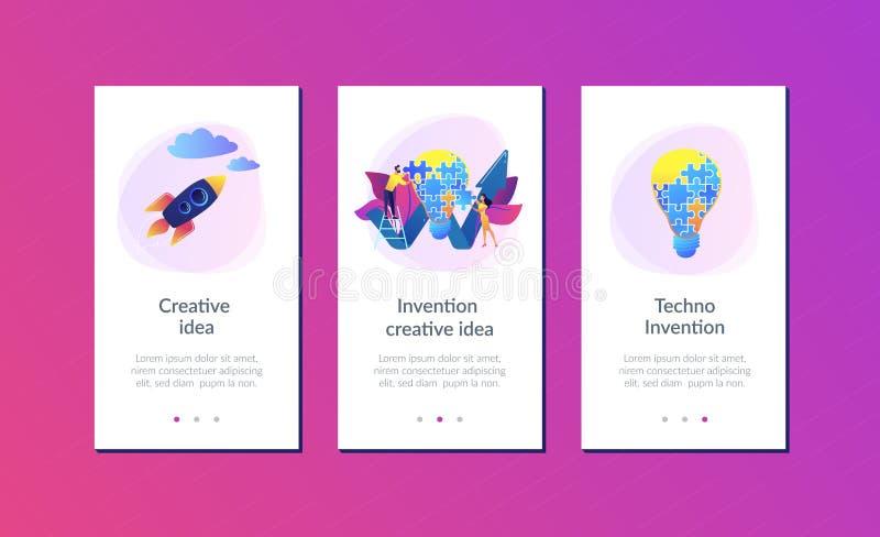 Idérik mall för idéappmanöverenhet royaltyfri illustrationer