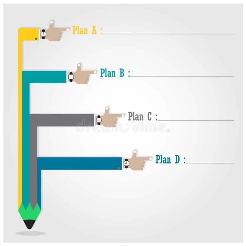 Idérik mall med diagrammet för flöde för blyertspennabandbaner, affär royaltyfri illustrationer