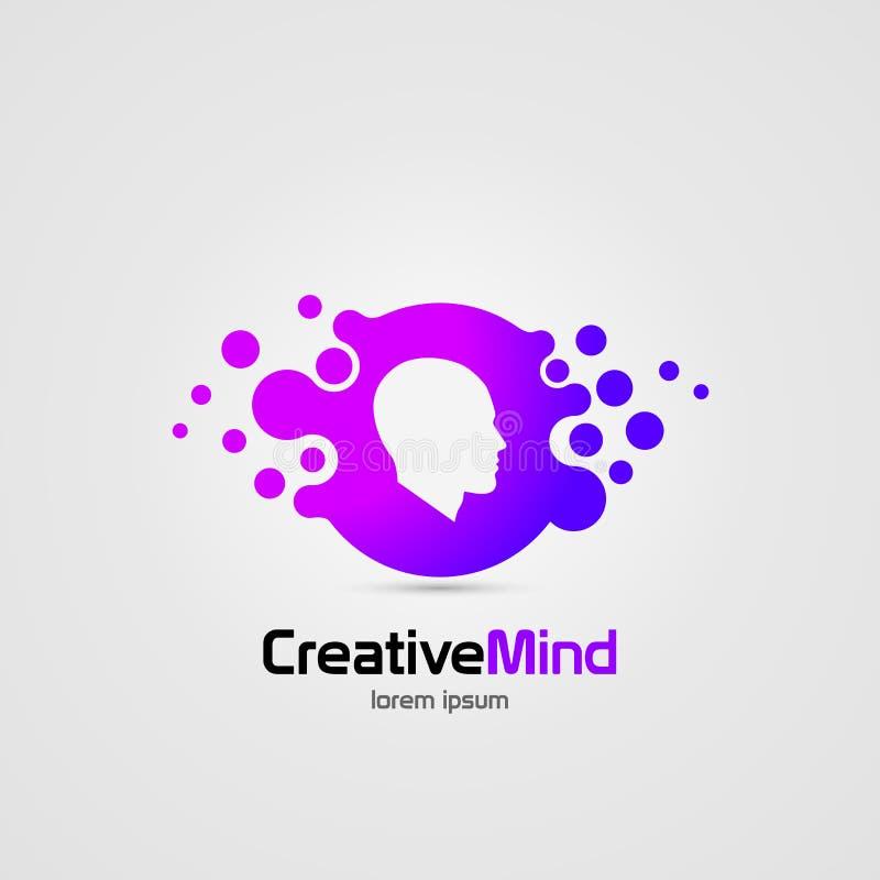 idérik mening Mänsklig hjärna abstrakt symbol color vektorn för det set symbolet för flamman vektor illustrationer