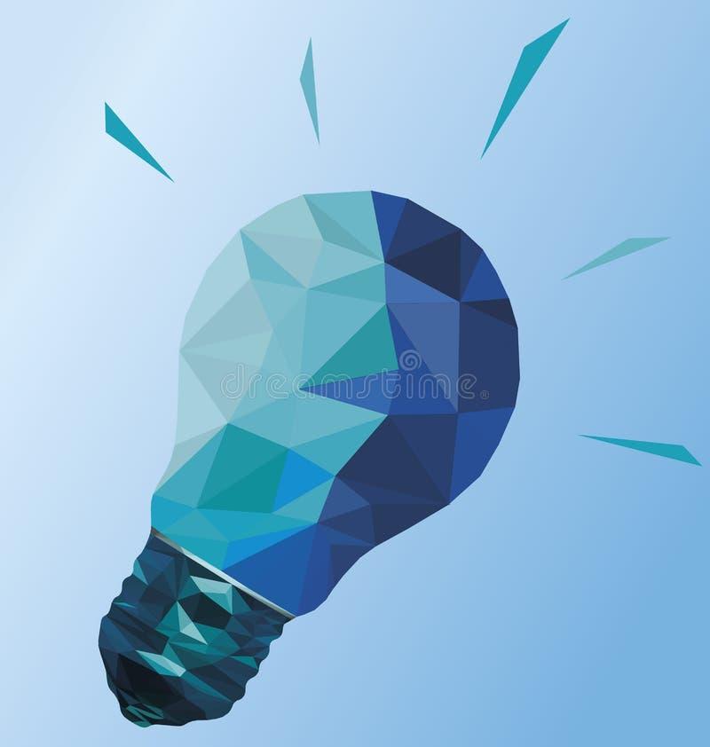 Idérik polygonal lightbulb royaltyfri illustrationer
