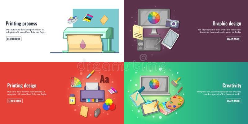 Idérik process, fastställda utvecklingsbaner för grafisk design eller för rengöringsdukdesign och vektorillustration för utskriva stock illustrationer