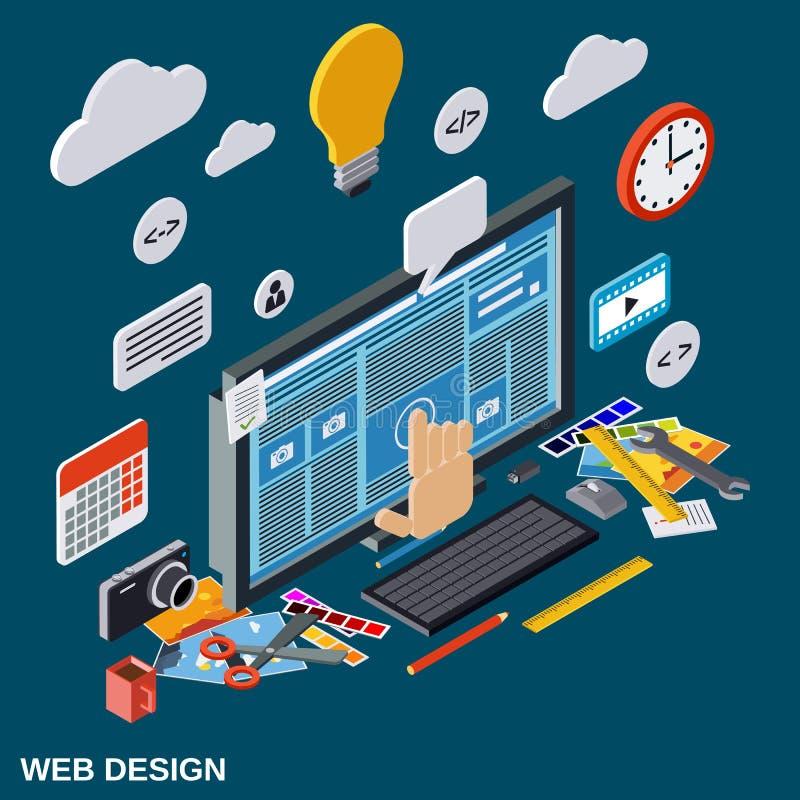 Idérik process, rengöringsdukdesign, begrepp för websiteutvecklingsvektor vektor illustrationer